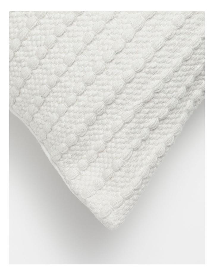 Torba Woven Cotton Cushion in White image 2