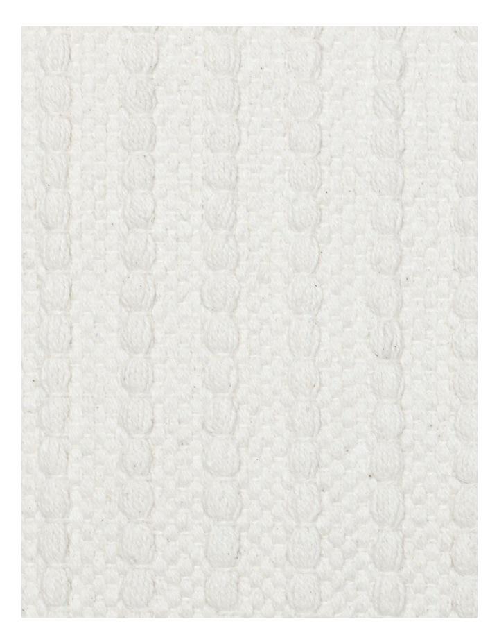 Torba Woven Cotton Cushion in White image 3