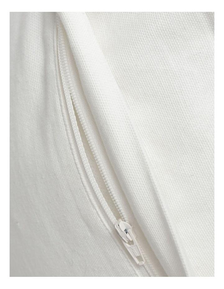 Torba Woven Cotton Cushion in White image 4