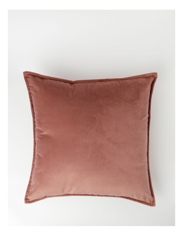 Heritage Vivienne Velvet Cushion in Withered Rose image 1