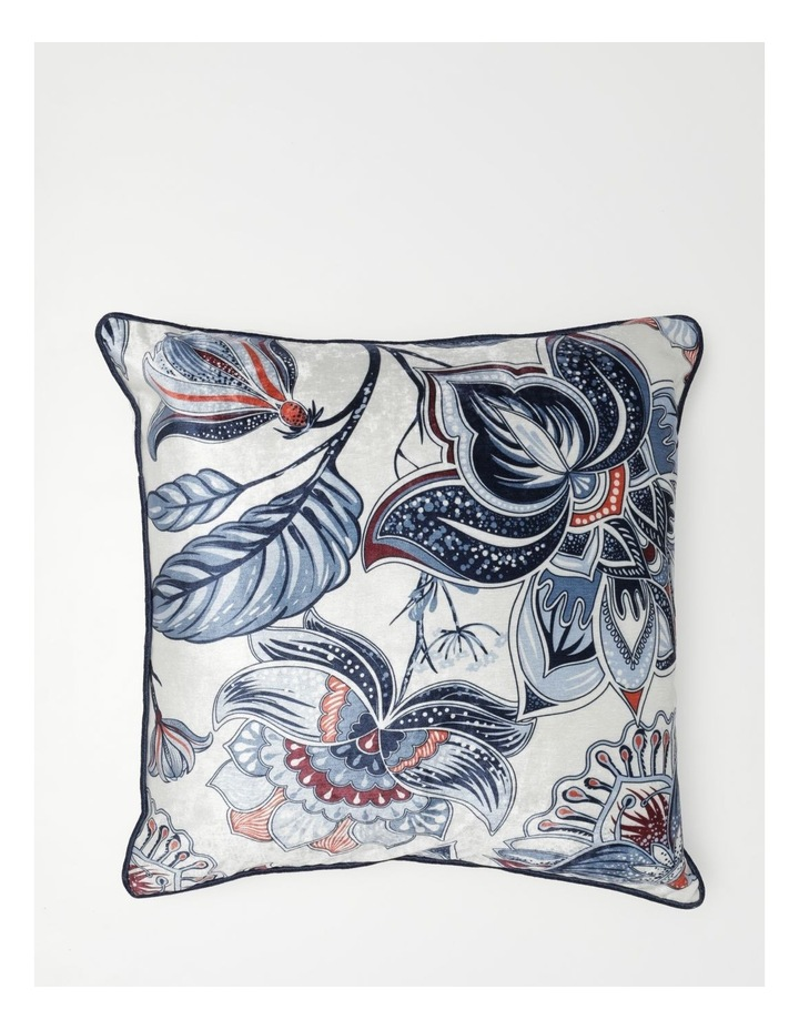 Heritage Obbnik Cotton Cushion in White image 1