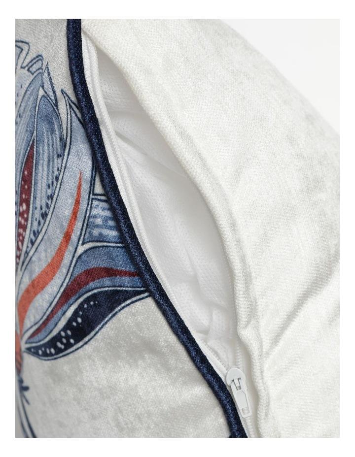 Heritage Obbnik Cotton Cushion in White image 4