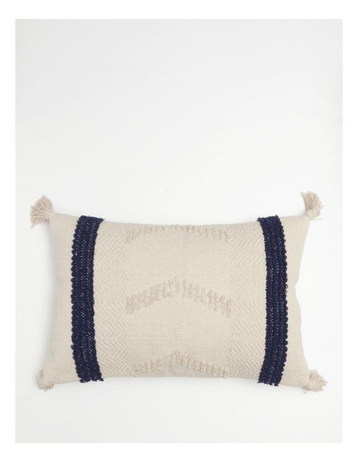 Pana Wina Woven Cotton Breakfast Cushion in White image 1