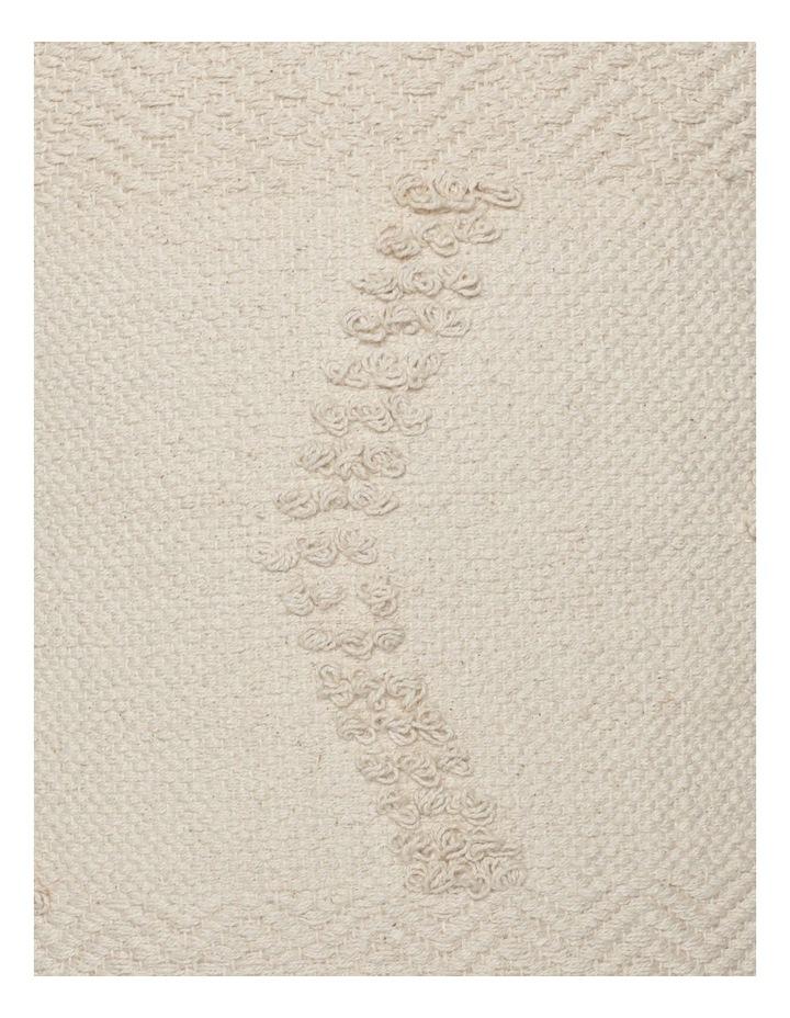 Pana Wina Woven Cotton Breakfast Cushion in White image 3