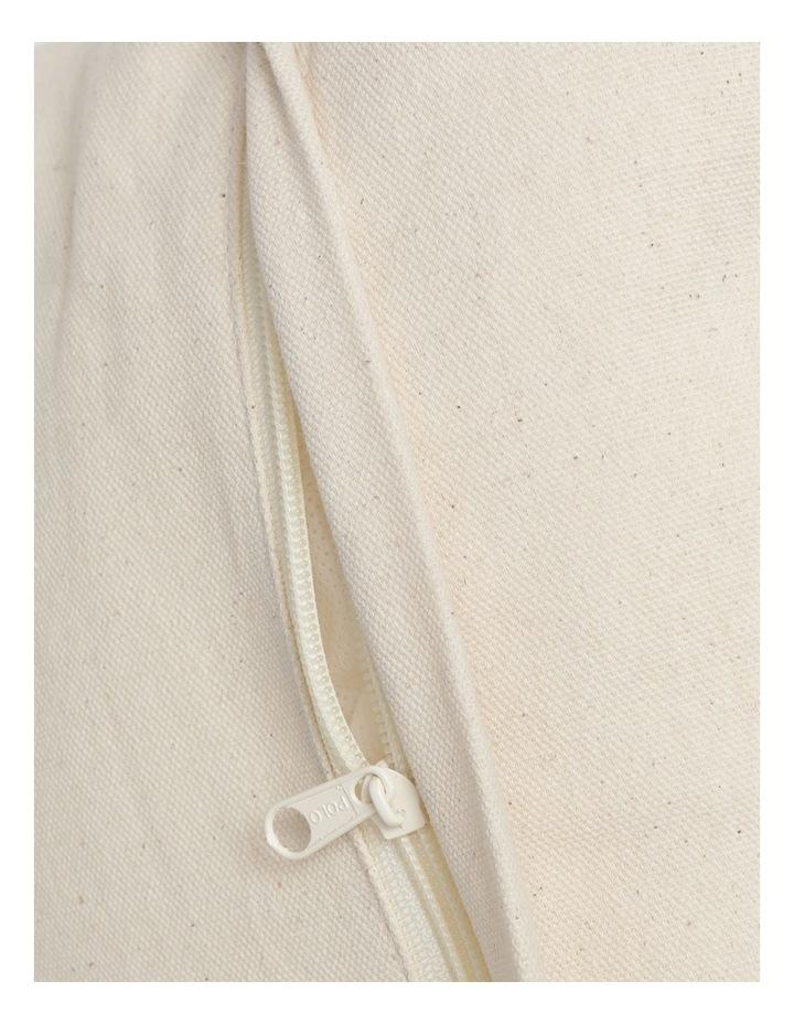 Pana Wina Woven Cotton Breakfast Cushion in White image 4