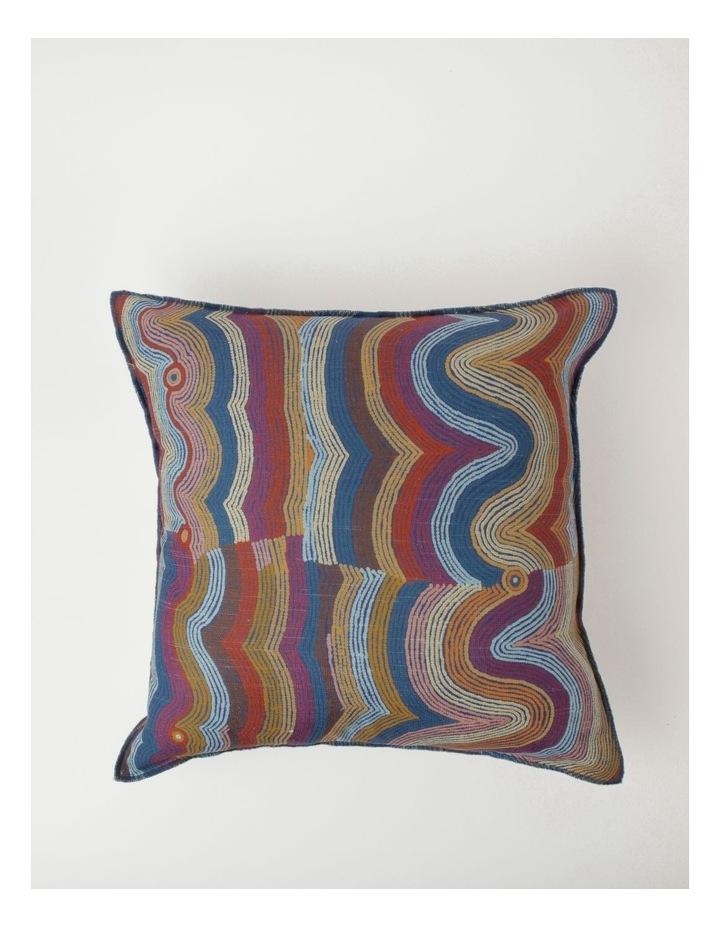 Selina Napanangka Fisher - Vaughan Springs Dreaming Bird Cushion image 1