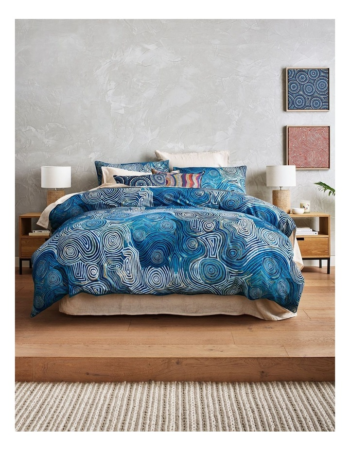 Selina Napanangka Fisher - Vaughan Springs Dreaming Bird Cushion image 5