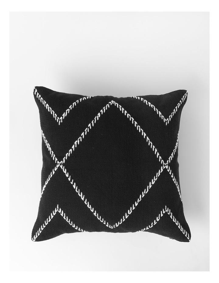 DP Castille Diamond Woven Cushion in Black image 1