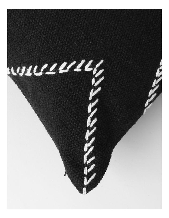 DP Castille Diamond Woven Cushion in Black image 2