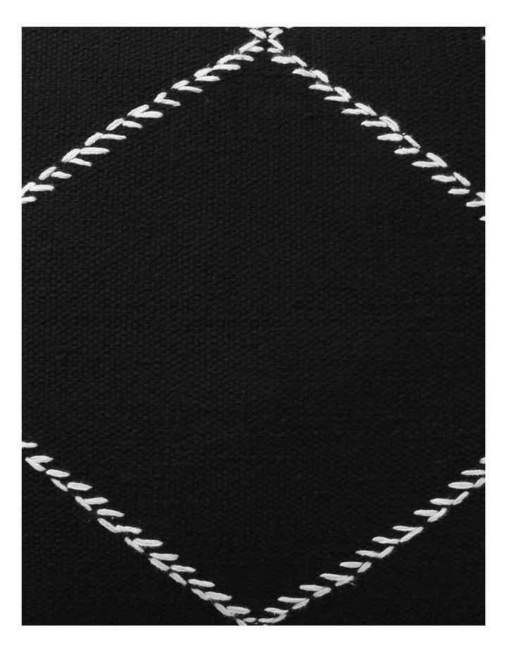 DP Castille Diamond Woven Cushion in Black image 3
