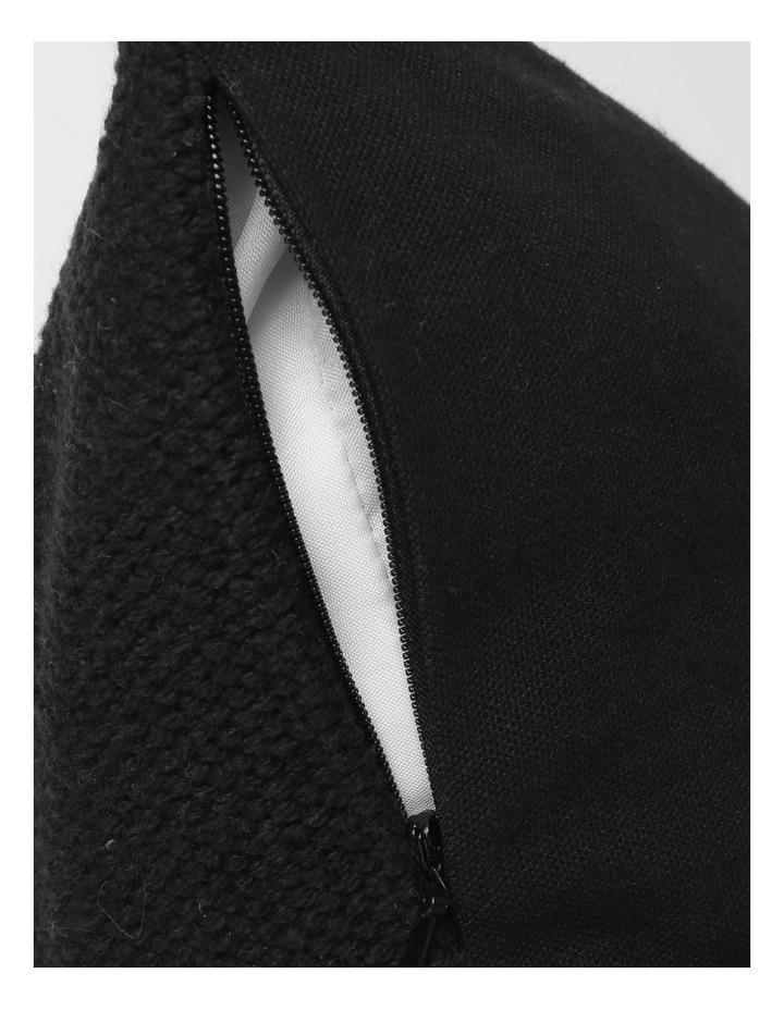 DP Castille Diamond Woven Cushion in Black image 4