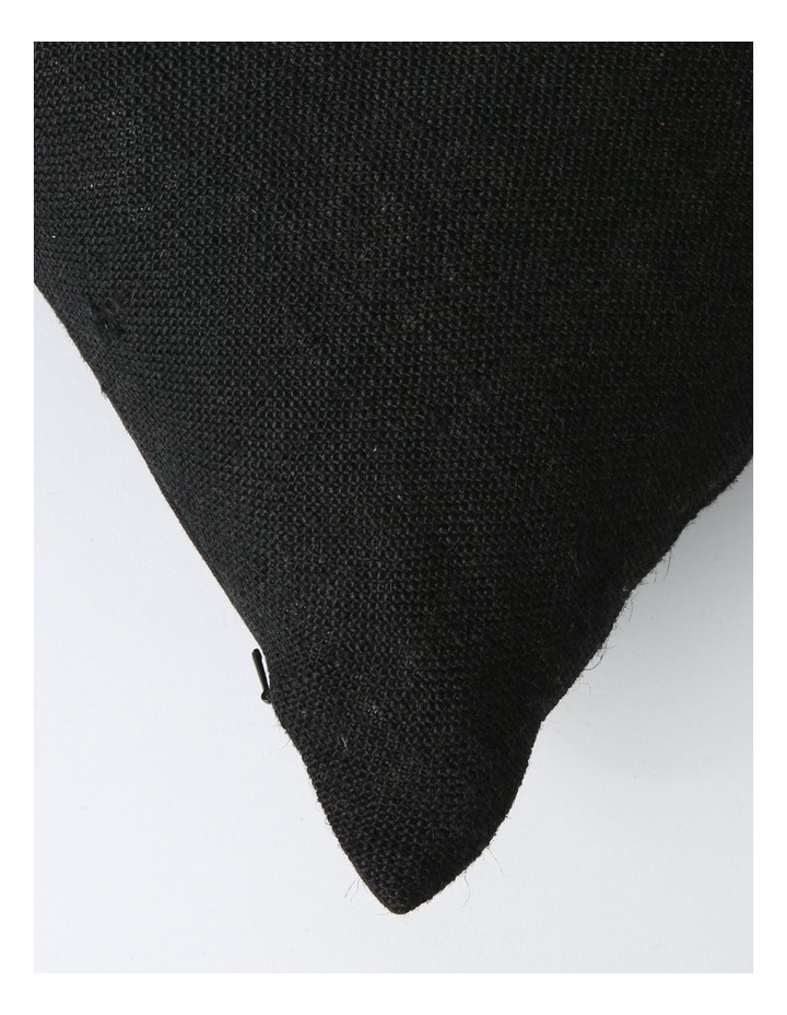 Andros Jute Panel Breakfast Cushion with Button Trims in Black image 2