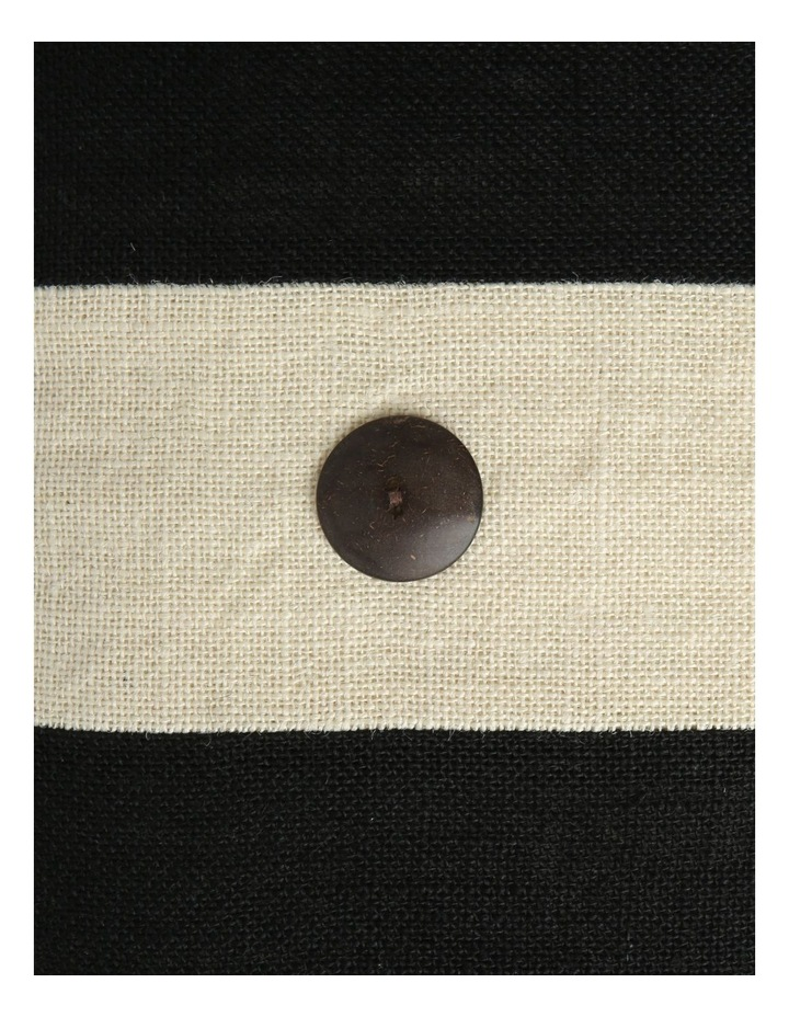 Andros Jute Panel Breakfast Cushion with Button Trims in Black image 3