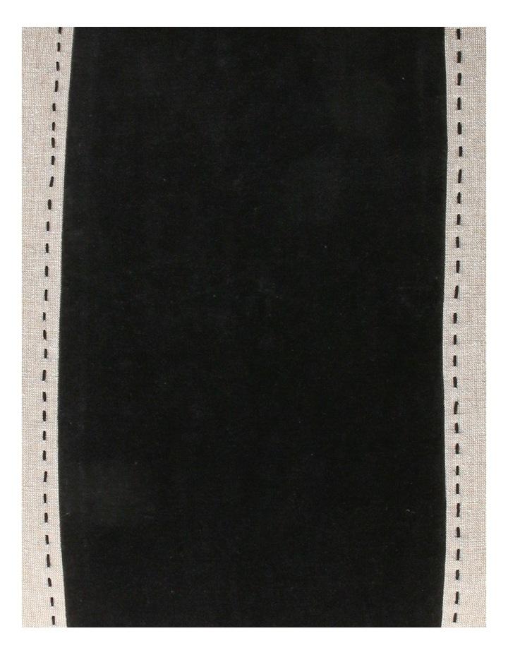 Abaco Velvet & Linen Panel Cushion in Black image 3