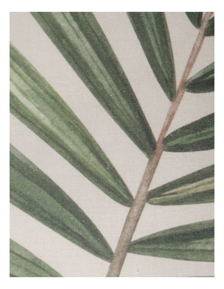 Murchison Palm Leaf Print Cotton Square Cushion in Green image 3