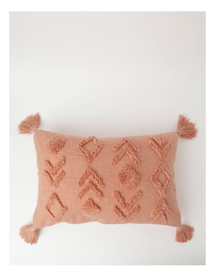 Vue Deerwood Tufted Cotton Breakfast Cushion in Pink Shell image 1