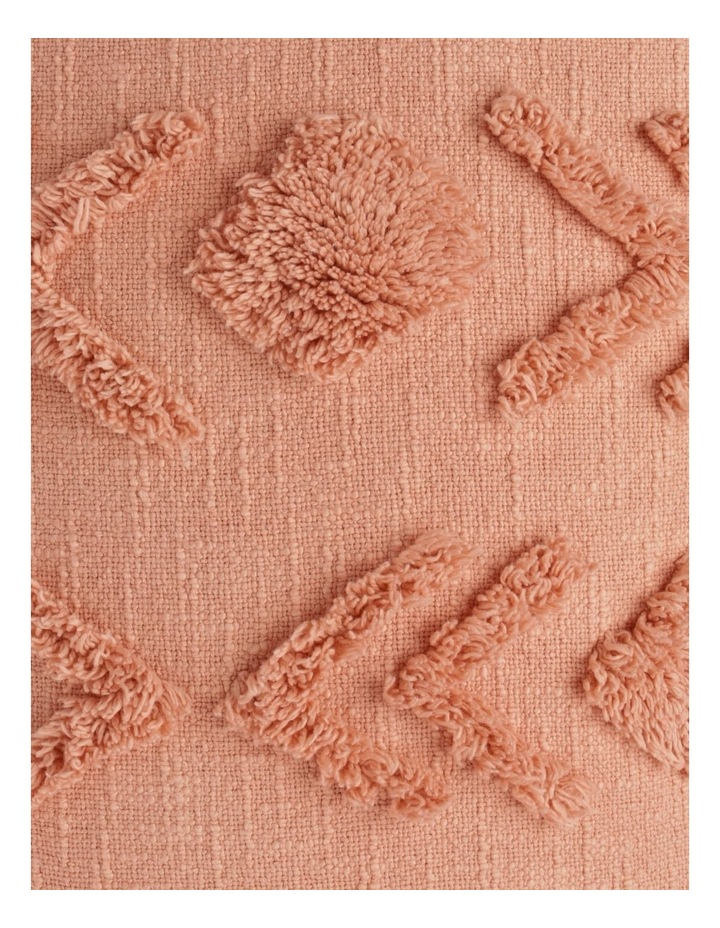 Vue Deerwood Tufted Cotton Breakfast Cushion in Pink Shell image 3