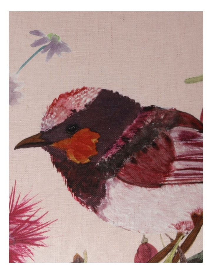 Heritage Wallace Bird Print Chenille Square Cushion in Pink image 3