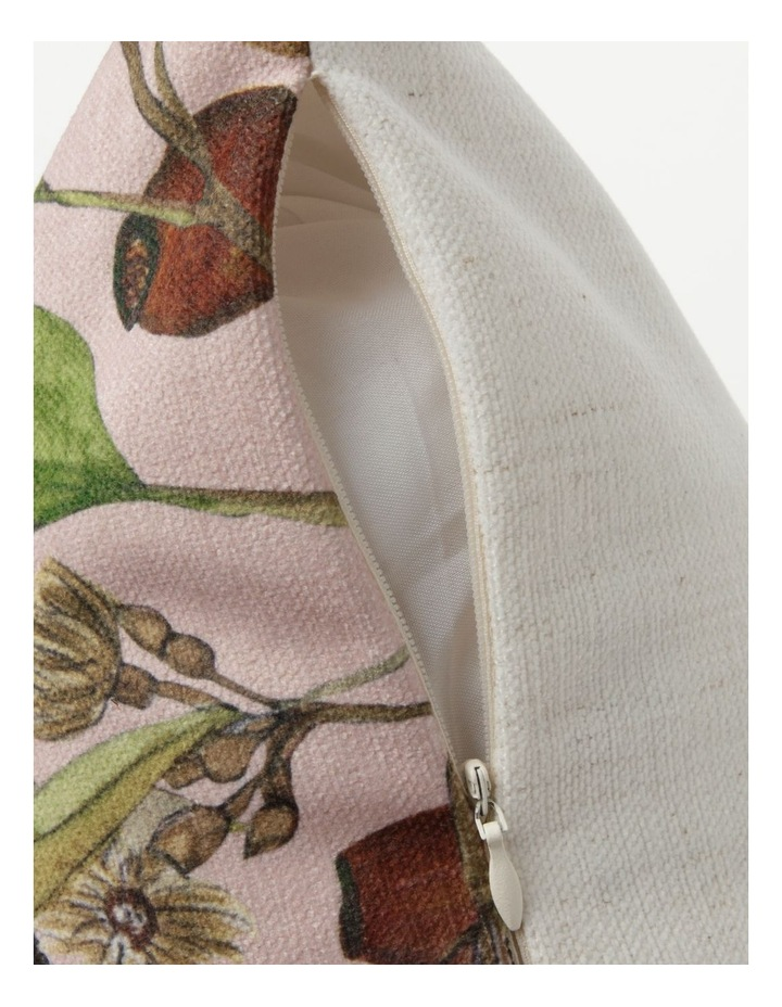 Heritage Wallace Bird Print Chenille Square Cushion in Pink image 4