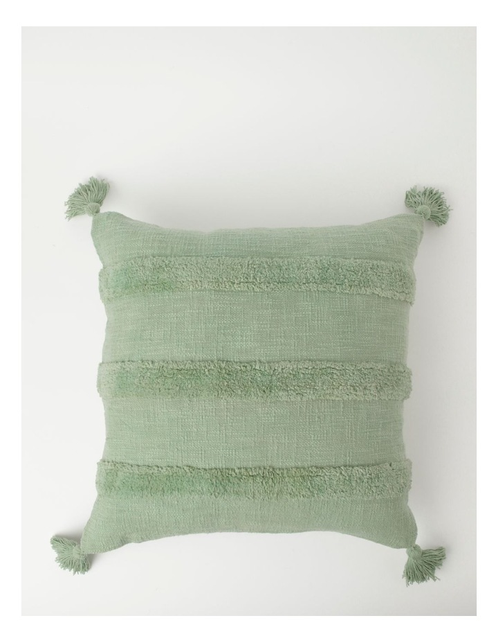 Vue Antonio Triple Stripe Tufted Cushion in Sage image 1