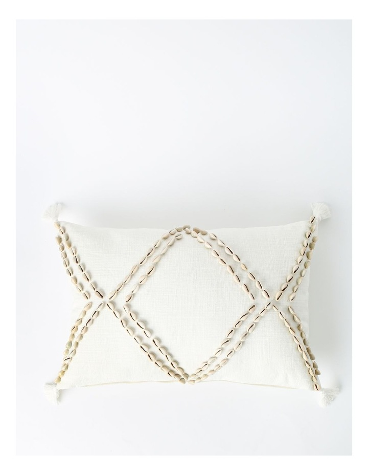 Eastshore Shell Breakfast Cushion with Tassles in Natural image 1