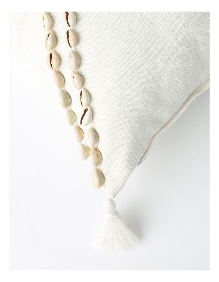 Eastshore Shell Breakfast Cushion with Tassles in Natural image 2