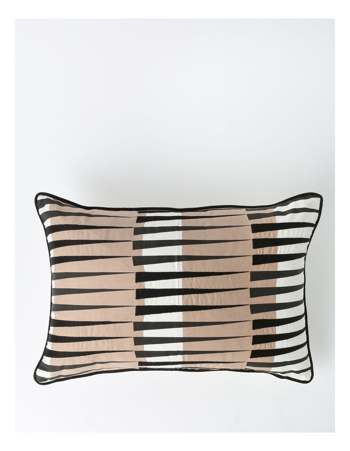 Saybrook Print & Embroidered Breakfast Cushion in Black image 1