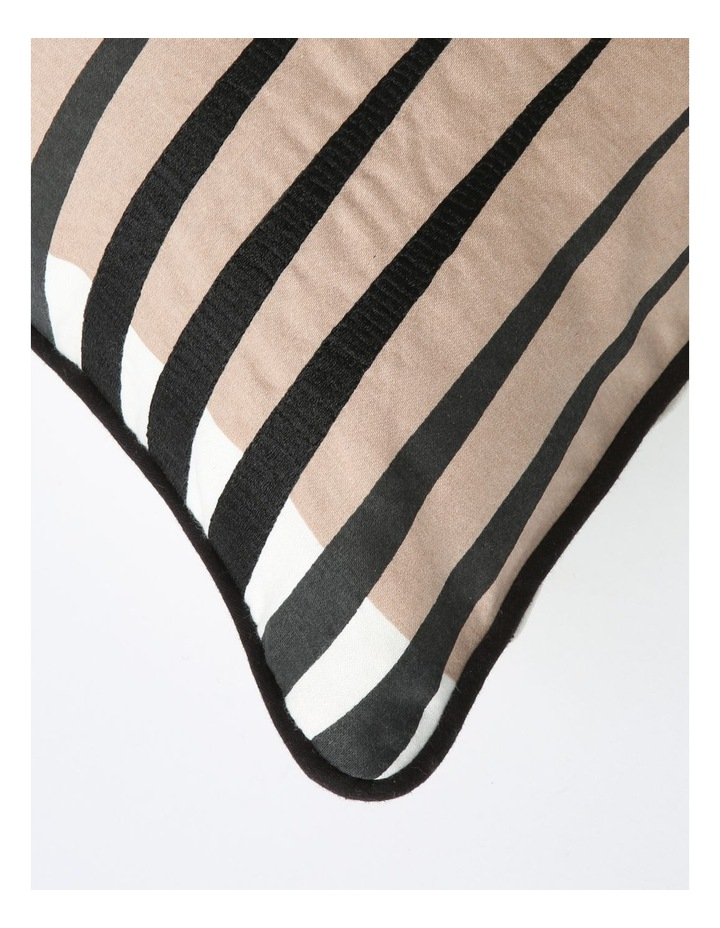 Saybrook Print & Embroidered Breakfast Cushion in Black image 2