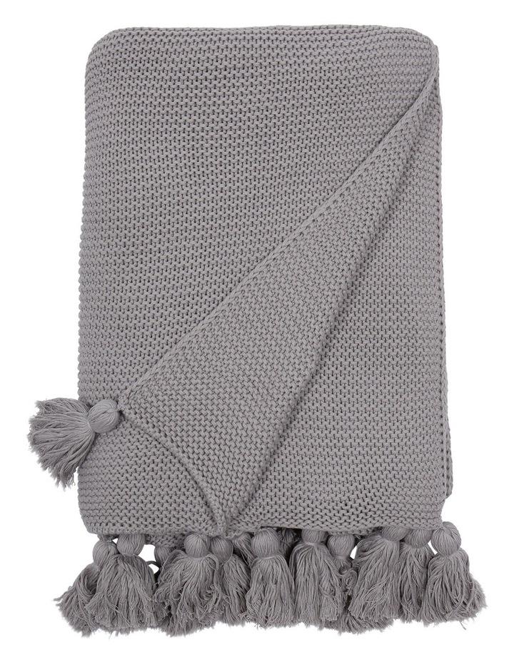 Melaky Knitted Throw in Grey image 1