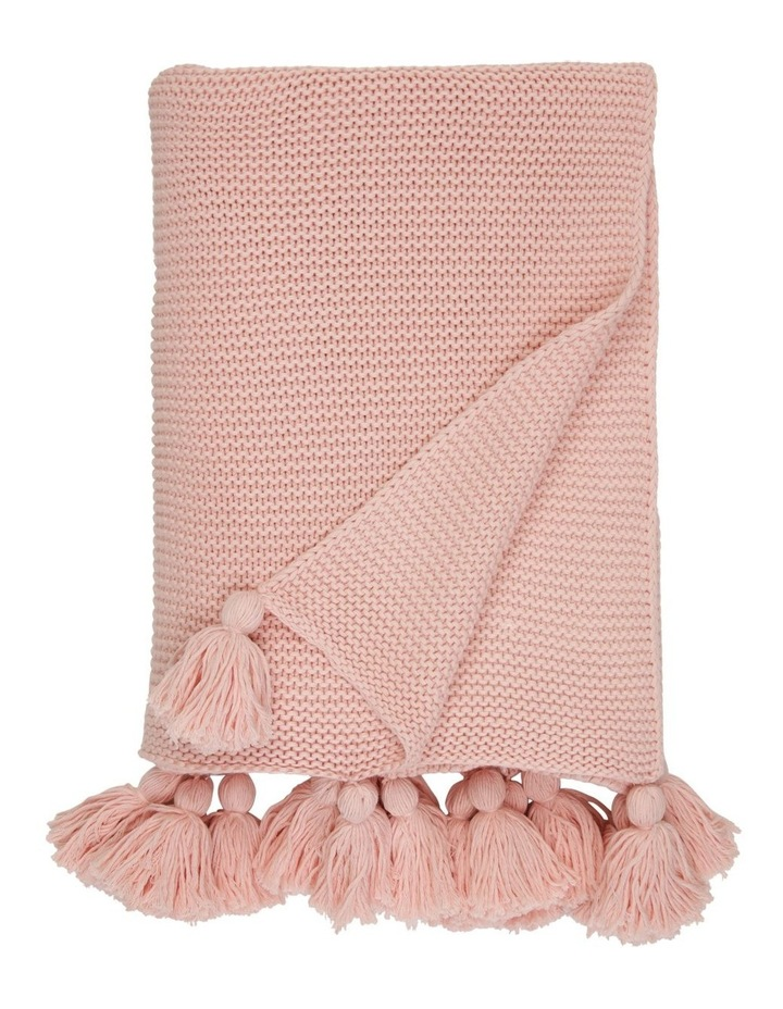 Melaky Knitted Throw in Pink image 1