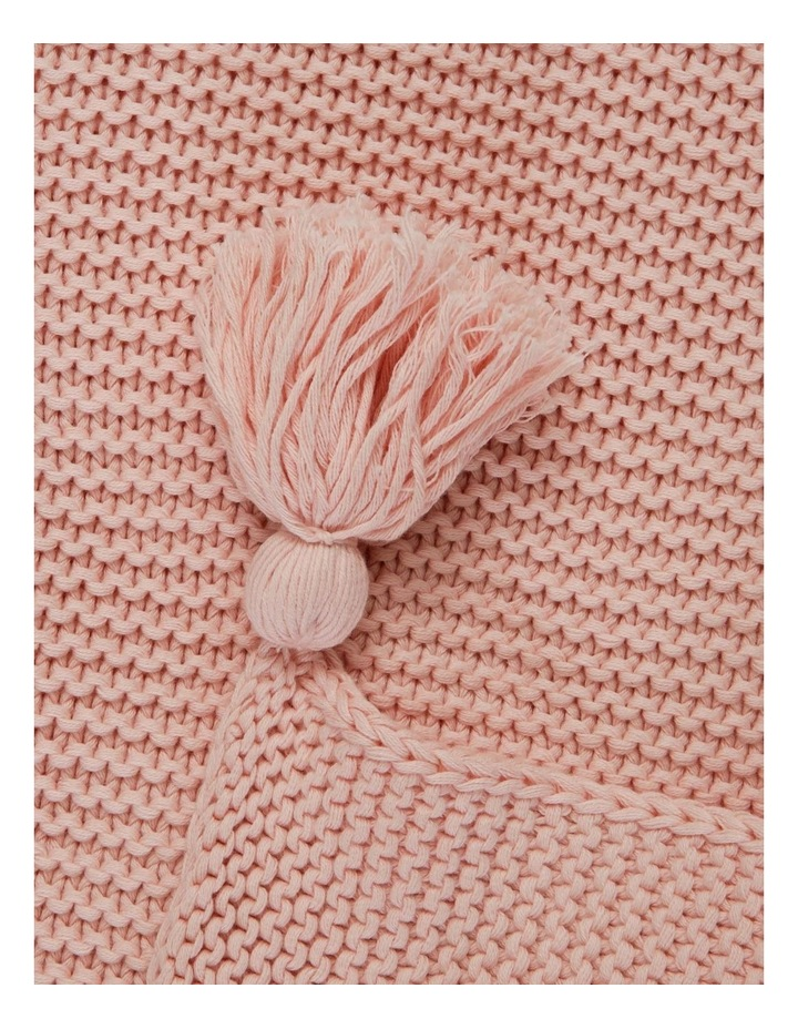 Melaky Knitted Throw in Pink image 2