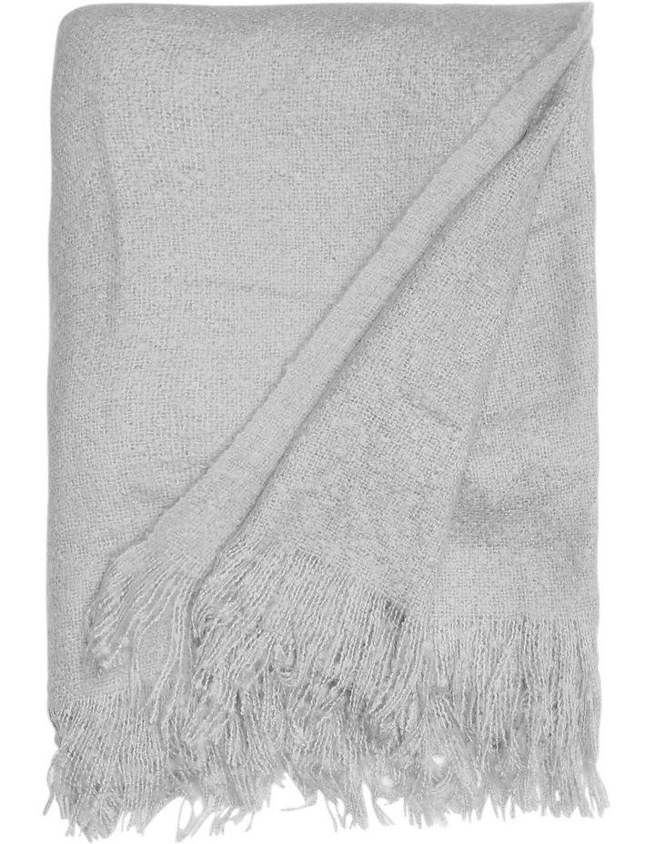 Hayley Woven Throw - Silver/Grey image 1