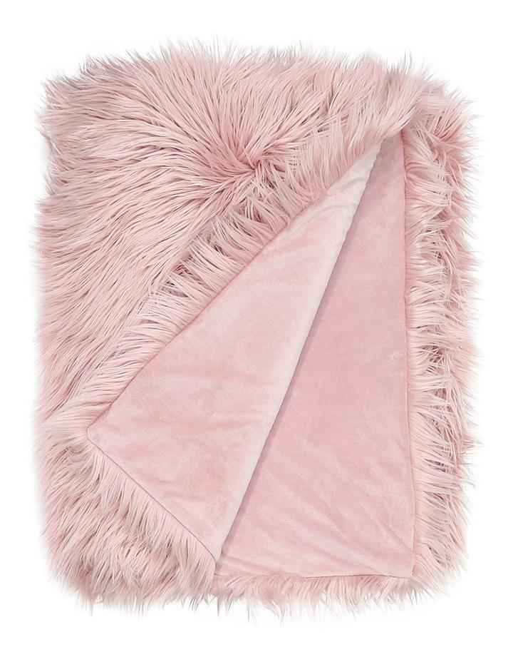 Kenya Faux Fur Throw in Pink image 1