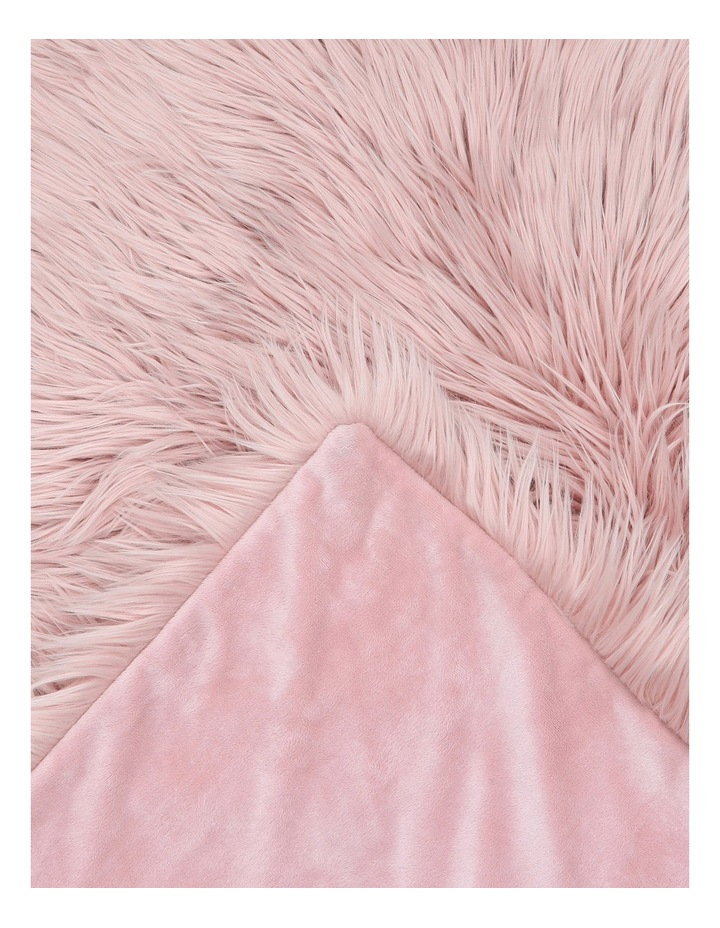 Kenya Faux Fur Throw in Pink image 2