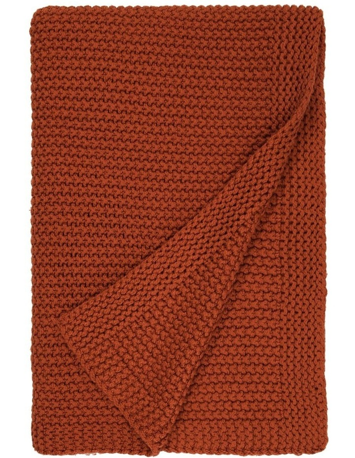 Norwood Knitted Throw in Carnelian image 1