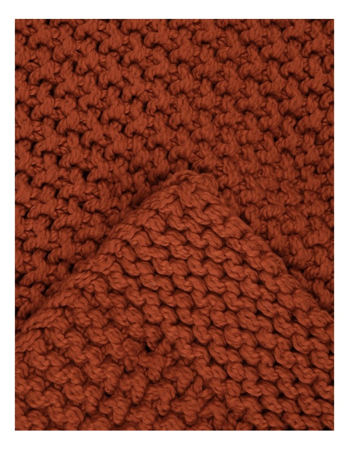 Norwood Knitted Throw in Carnelian image 2