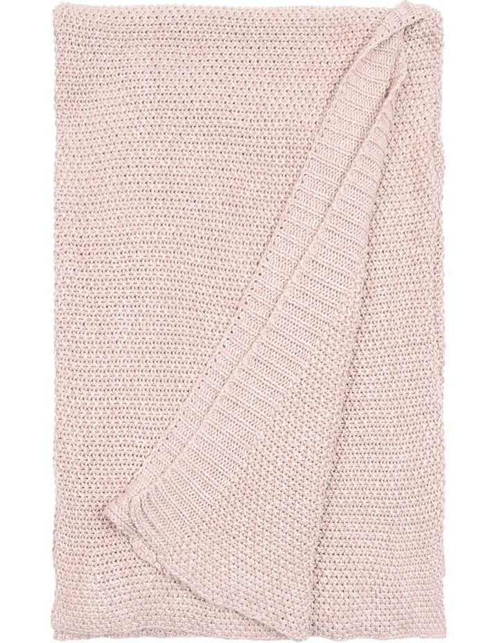Lucille Knitted Throw in Rose Smoke image 1