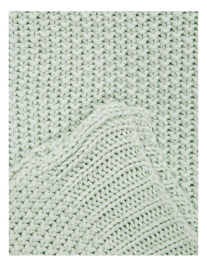 Lucille Knitted Throw in Eggshell image 2