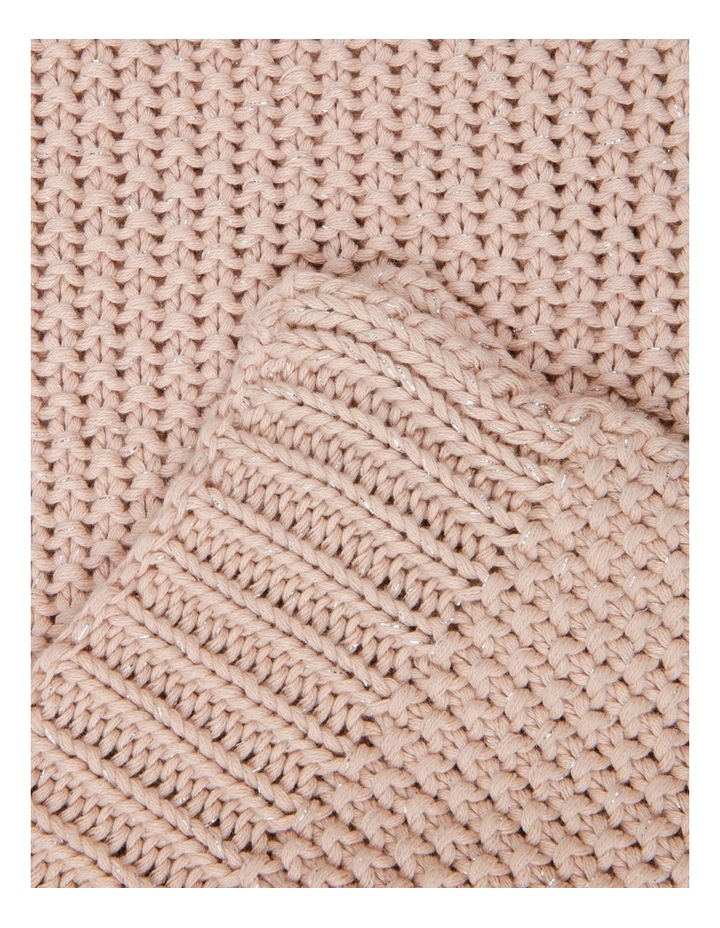 Lucille Knitted Throw in Rose Smoke image 2