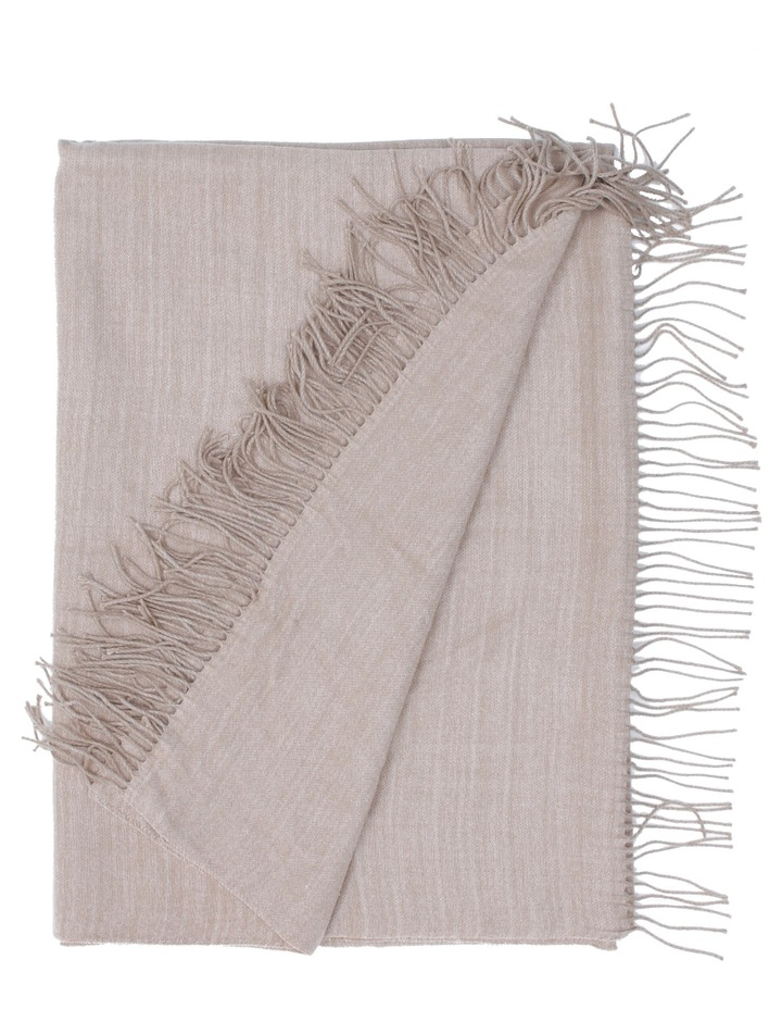 Yvonne Woven Throw in Taupe image 1