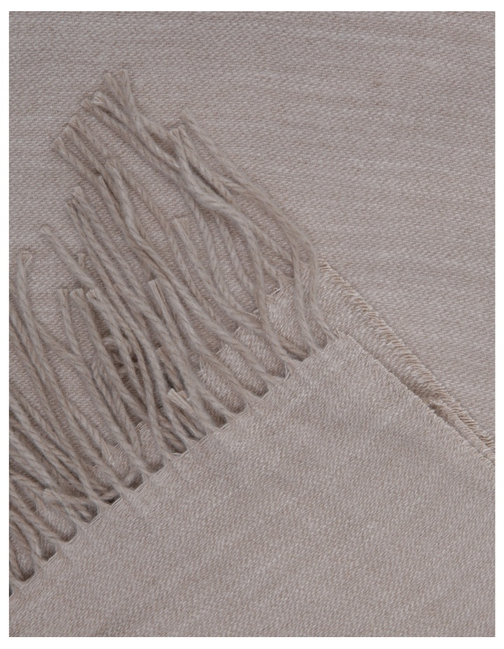 Yvonne Woven Throw in Taupe image 2