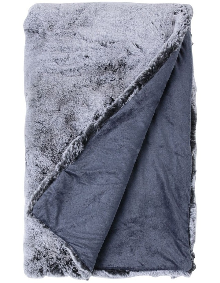 Oslo Faux Fur Throw In Grey image 1