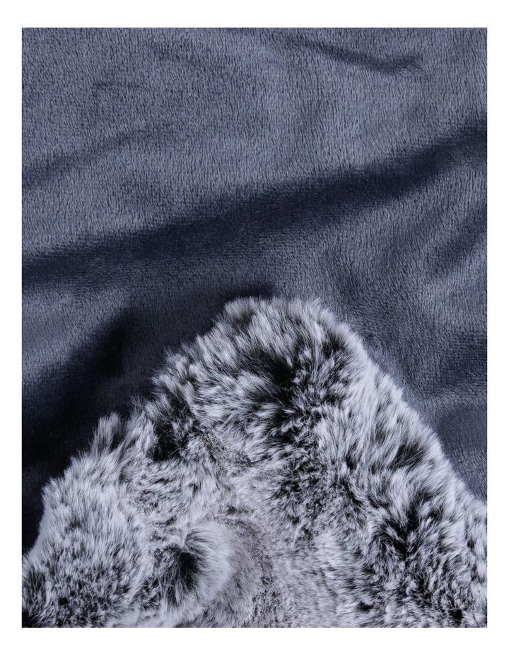 Oslo Faux Fur Throw In Grey image 2