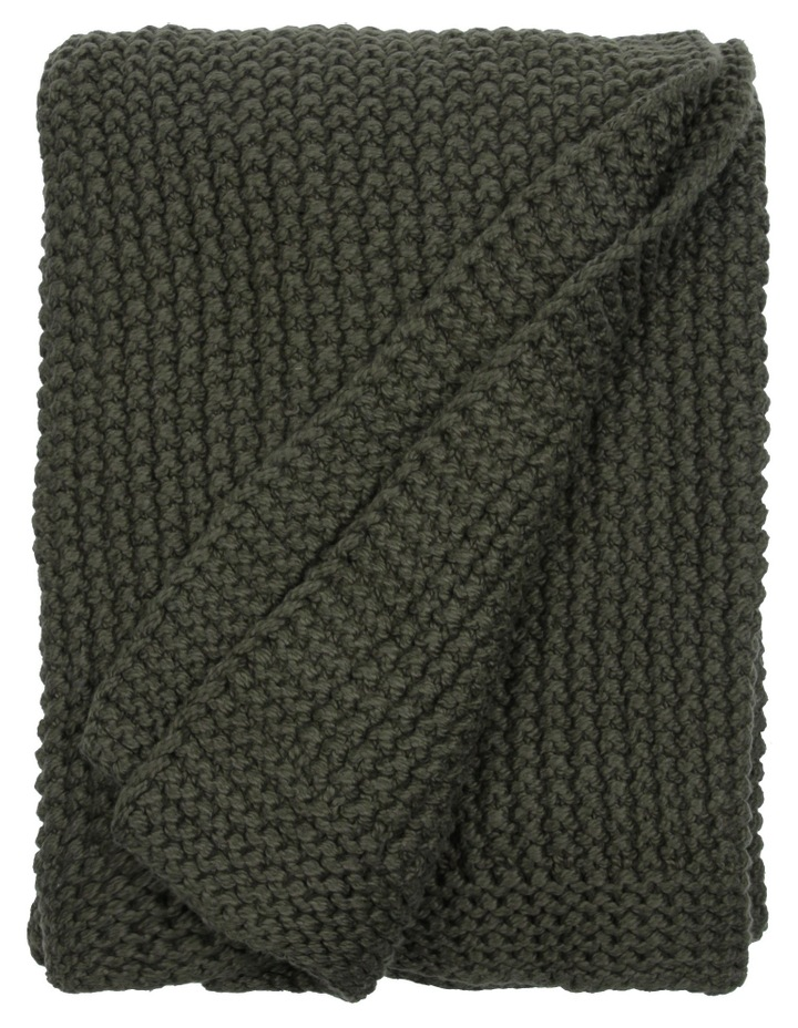Norwood Knitted Throw in Olive image 1