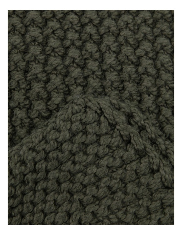 Norwood Knitted Throw in Olive image 2