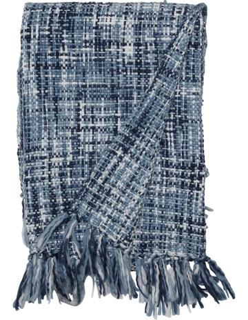 d5856766fbf2e HeritageMinsk Chunky Knitted Throw 130x180cm:Blues