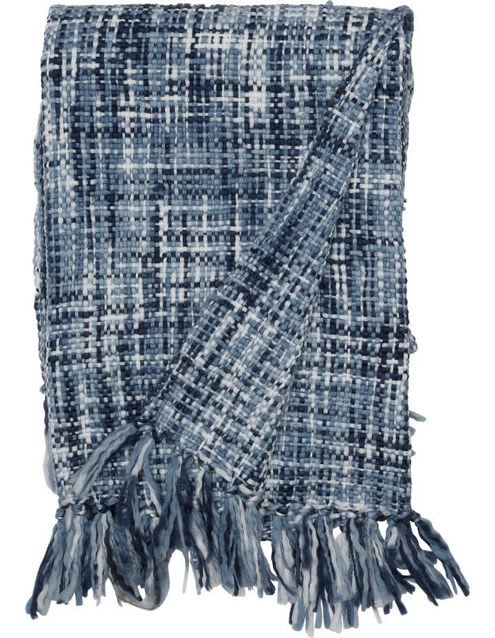 Minsk Chunky Knitted Throw 130x180cm:Blues image 1
