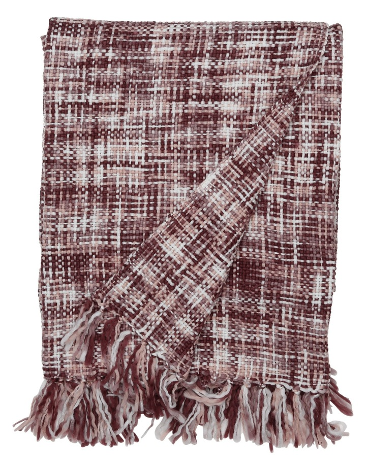 Minsk Chunky Knitted Throw 130x180cm:Pink image 1