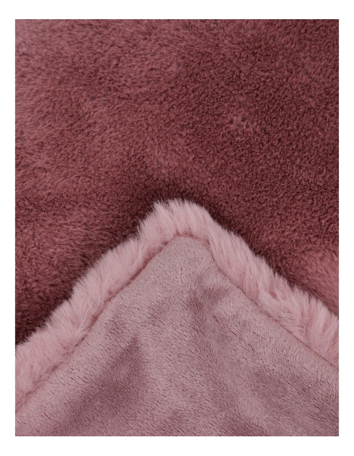 Amelie Faux Fur Throw in Rose Smoke image 2