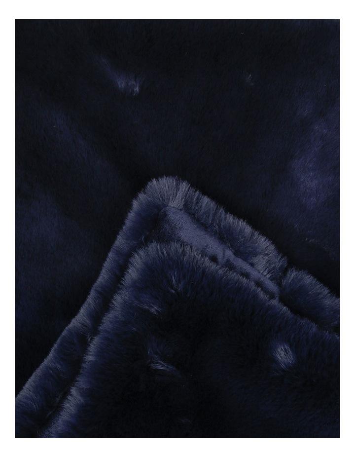 Amelie Faux Fur Throw in Dark Blue image 2